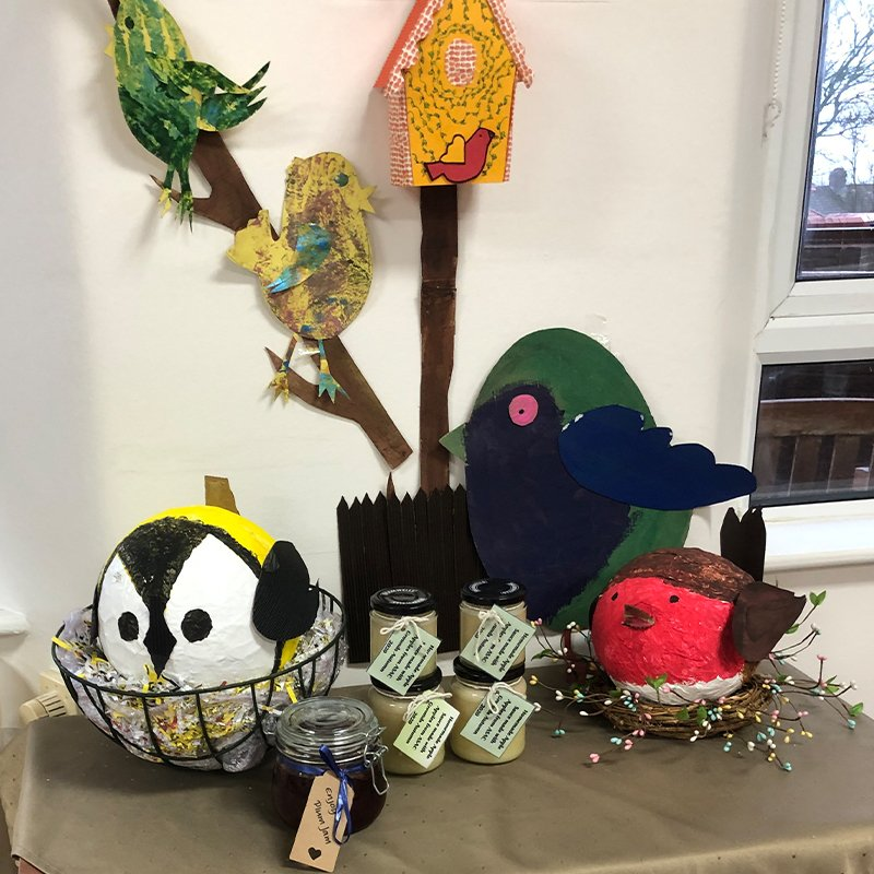 Gifts for Holy Cross Nursing Home from Alan Shearer Centre