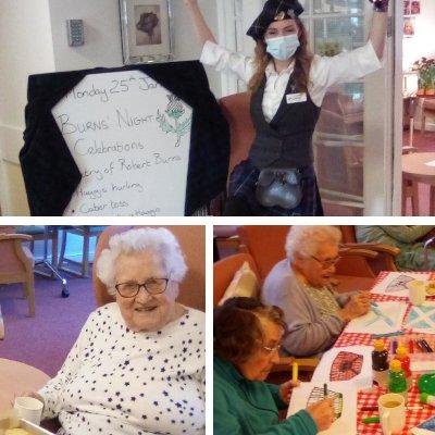 Burns Night Celebrations at St Catherine's Nursing Home