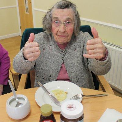 St Catherine's Nursing Home Enjoying Pancake Day