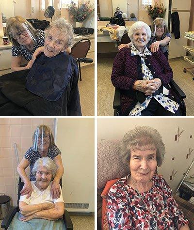 Resident's delight as hairdresser returns