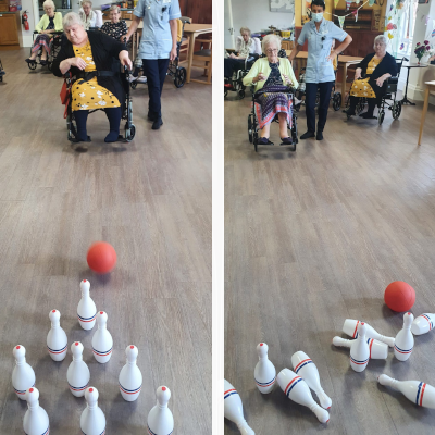 Bowling fun is right up our residents' alley