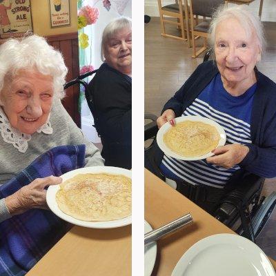 Pancake making is flipping fun at Holy Cross